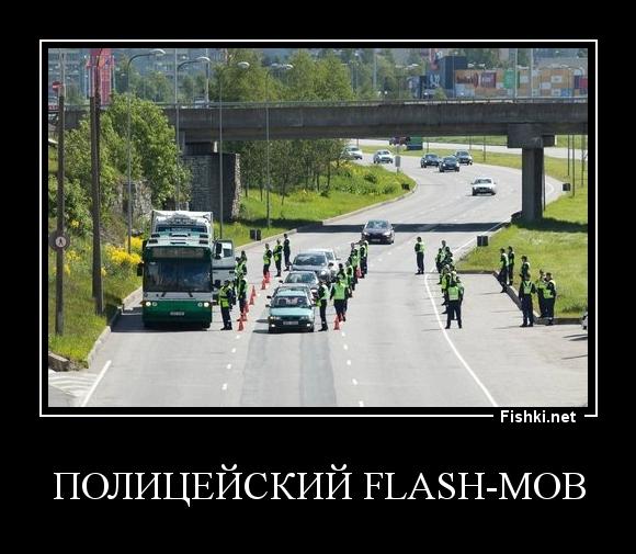 полицейский flash-mob