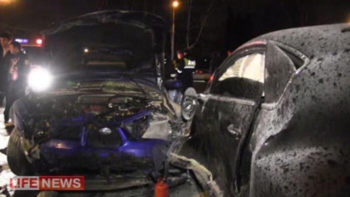 Очередная авария в Москве с участием молодых мажоров (2 фото+видео)