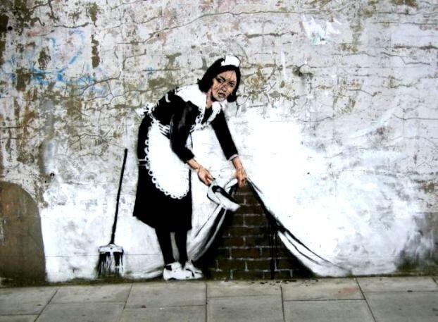 Уличный художник Banksy (154 фото)