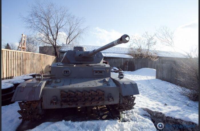 Как соорудить танк в условиях частного сектора города-миллионника (30 фото)