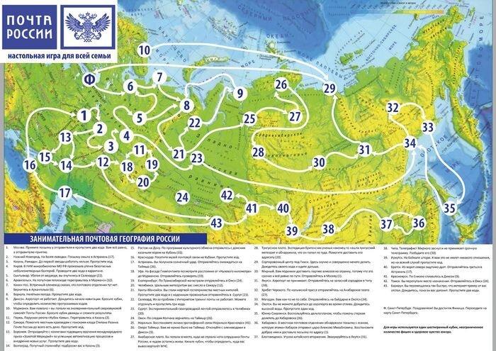 Настольная игра «Почта России»  (1 фото)