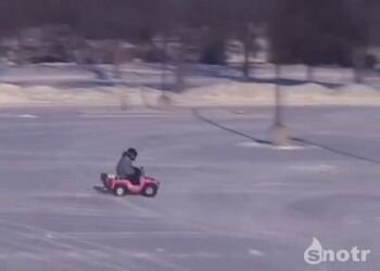 Снежный дрифт на детских авто