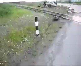 Авария на железной дороге (слабонервным не смотреть)