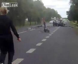 Последствия жесткой аварии