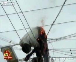 Возгорание от электричества