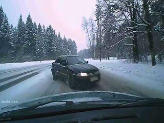 Лобовая авария в Зеленограде
