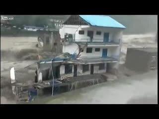 Смыло родной дом