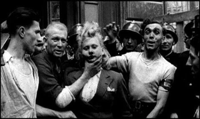 Что делали с любовницами гитлеровцев после войны (19 фото)