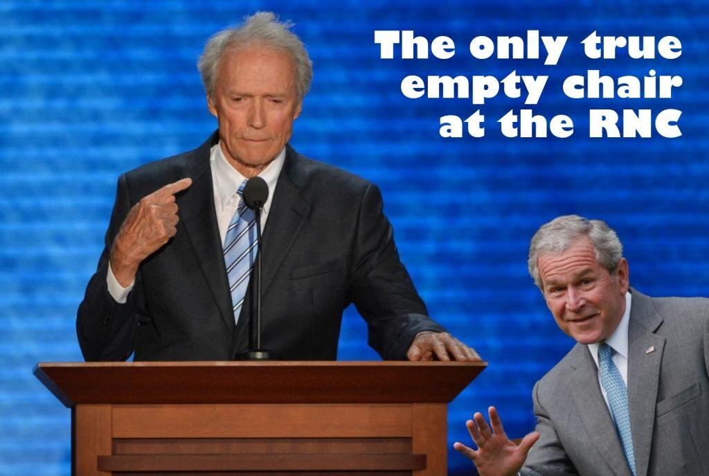Clint Eastwood And The Empty Chair Memes  от pab за 14 sep 2012