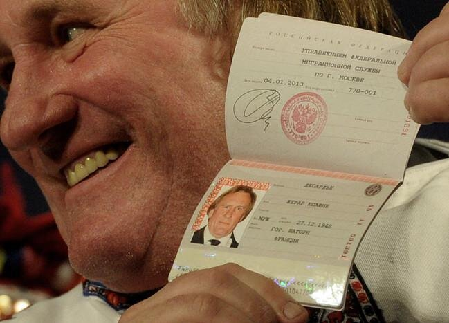 Famous French Actor Gerard Depardieu Becomes Russian