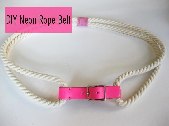 Quick & Easy DIY: Rope Belt!
