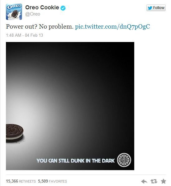 """You Can Still Dunk in the Dark"" Says Oreo от Veggie за 04 feb 2013"