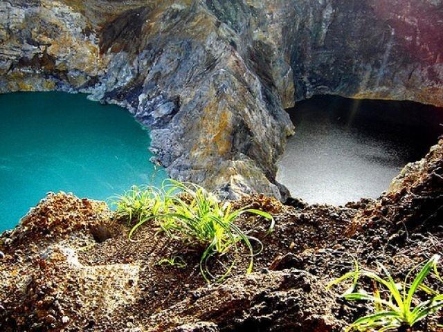 Tri-Colored Lakes of Indonesia, Amazing