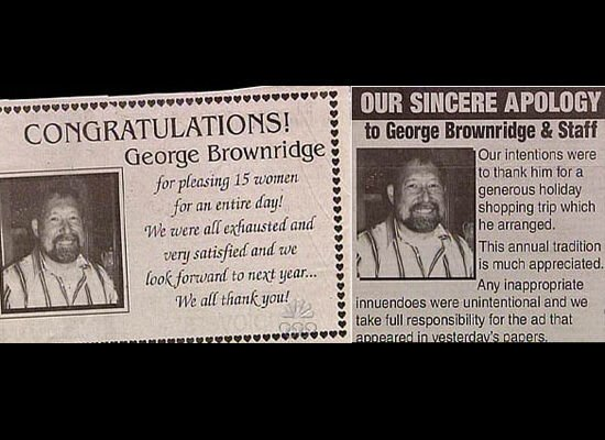 The Most Ridiculous Newspaper Corrections