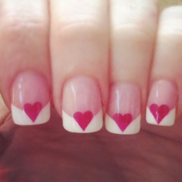St. Valentine's Day Manicure Ideas от Marinara за 12 feb 2013