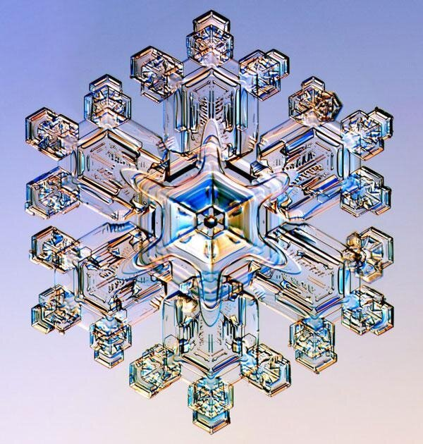 Snowflakes are The Nature's Fine Art