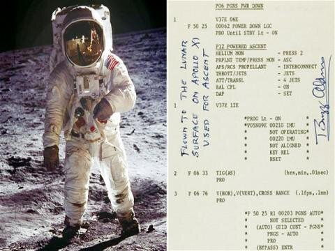 Buzz Aldrin to Sell His Guide to Moon Landing