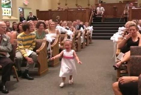 Funny Screaming Wedding Flower Girl