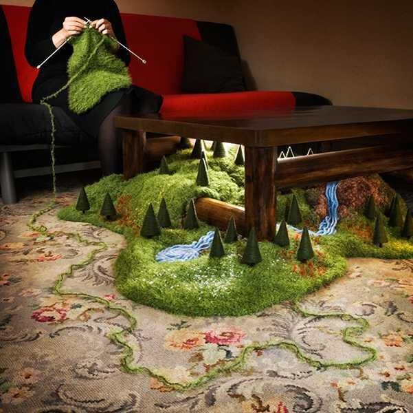Artist Magdalena Bors Builds Surreal Landscapes Inside His House от Marinara за 24 mar 2013
