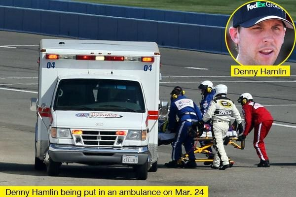 Denny Hamlin Hospitalized after Crash at Sunday's Auto Club 400 от Marinara за 25 mar 2013