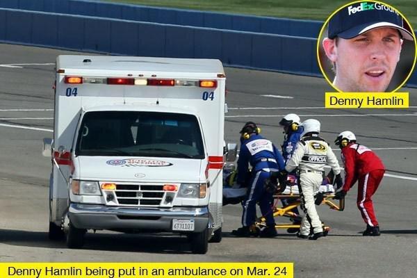 Denny Hamlin Hospitalized after Crash at Sunday's Auto Club 400