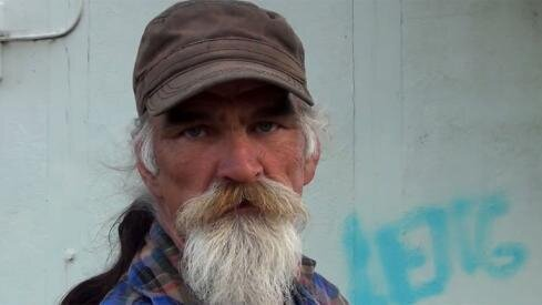 Homeless Man With Dancing Mustache