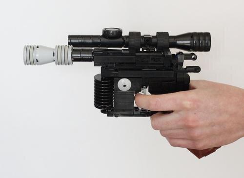LEGO Built Star Wars Han Solo DL-44 Blaster Pistol