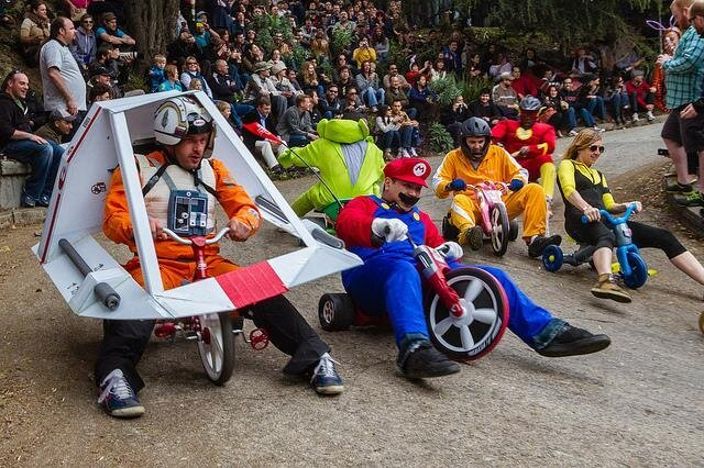San Francisco's Annual Bring Your Own Big Wheel Race