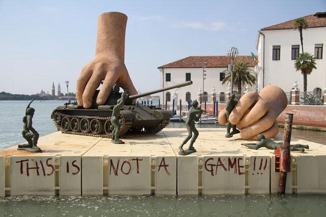Wars Aren't Games Sculpture By Lorenzo Quinn