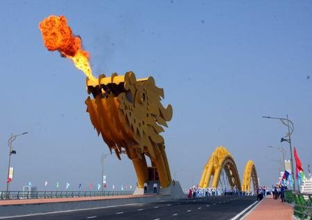 Fire-Breathing Dragon Bridge in Vietnam