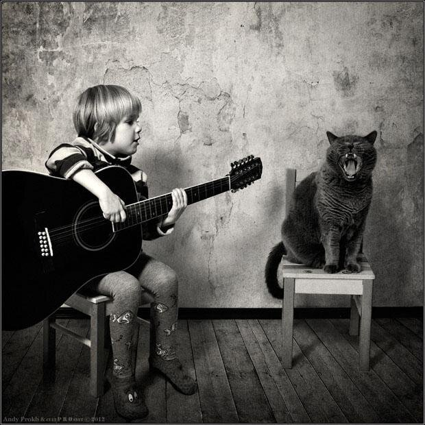 Cute Photo Series of Girl and Her Tomcat от Marinara за 12 apr 2013