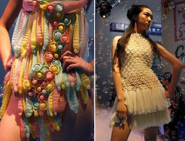 Incredible Dresses Made of Waste Materials