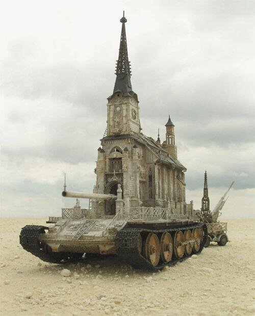 Churchtanks, Sculptural Mashups of Tanks and Cathedrals от Marinara за 22 apr 2013