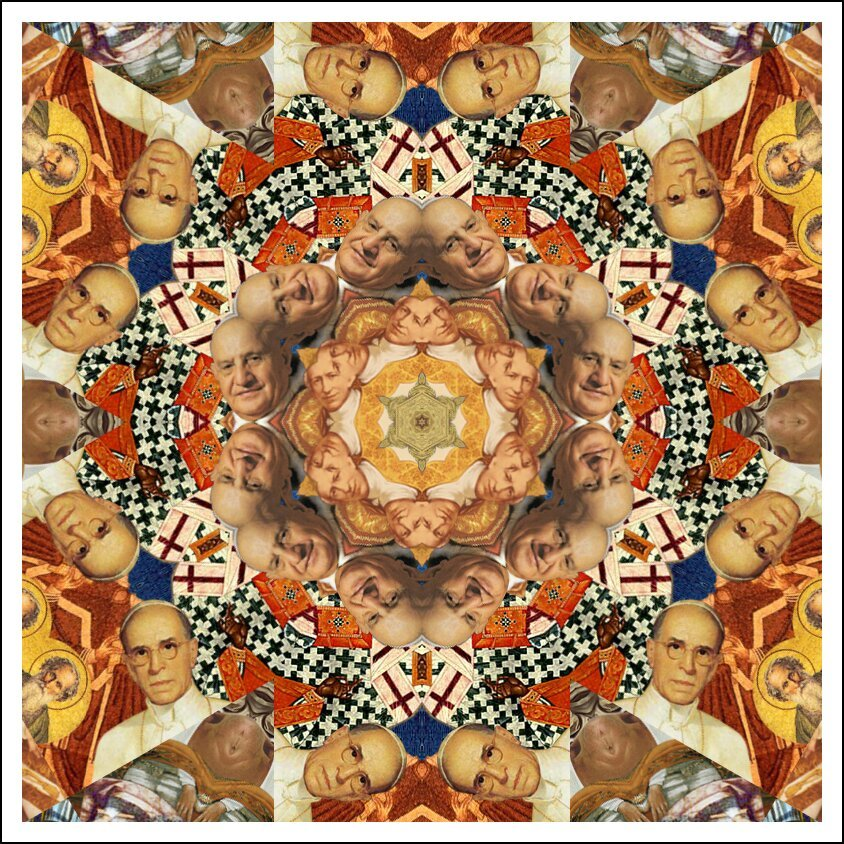 KaleidoPope, An Interactive Kaleidoscope of Historic Portraits от Marinara за 26 apr 2013