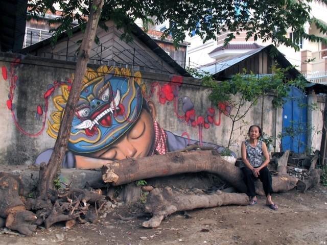 Amazing Street Art of Traveling Artist