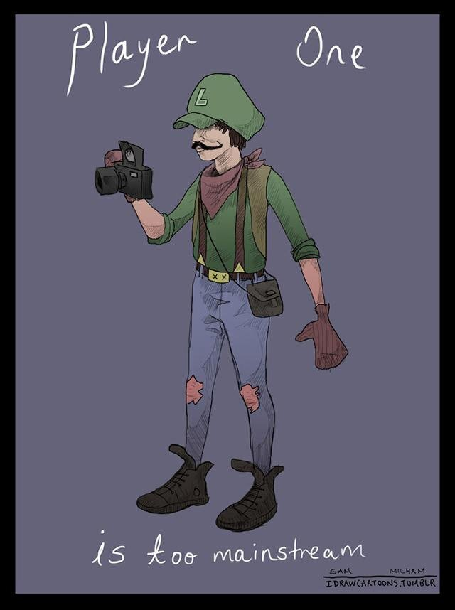 If Super Mario Bros. Characters were Hipsters