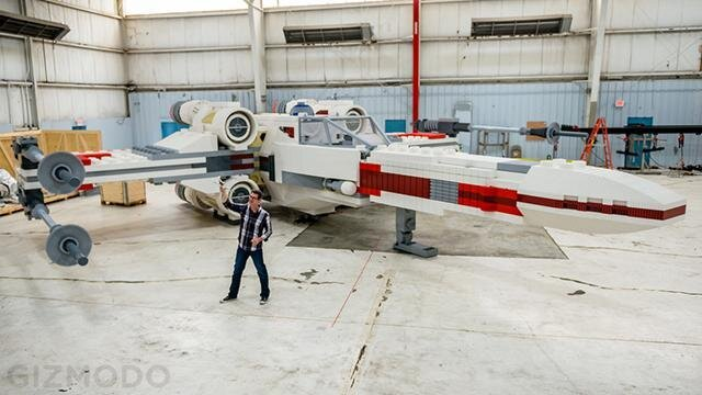5 Million LEGO Bricks Used to Build Giant Star Wars X-Wing Fighter