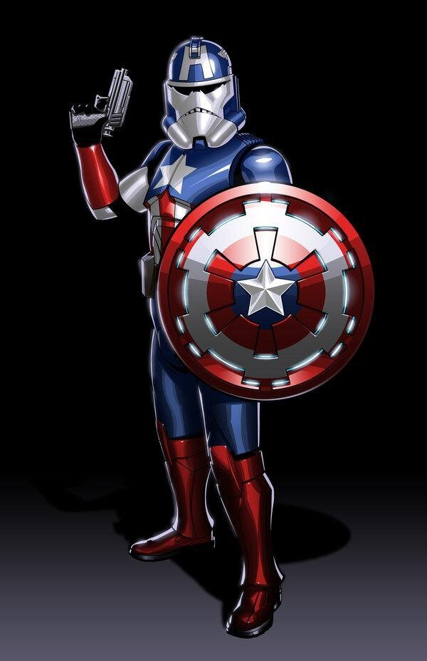 Beautiful Illustrations of Avengers Reimagined as Star Wars Clone Troopers