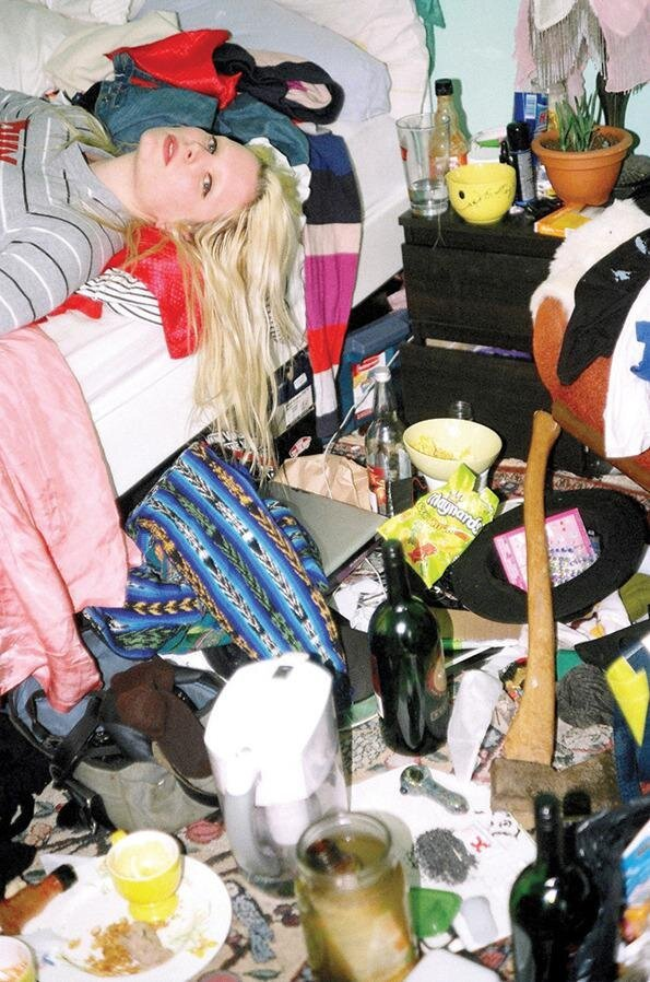 Girls with Really Messy Rooms Photo Series