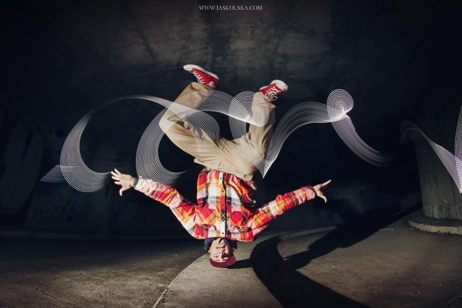 Breakdancers Paint With Lights, Beautiful