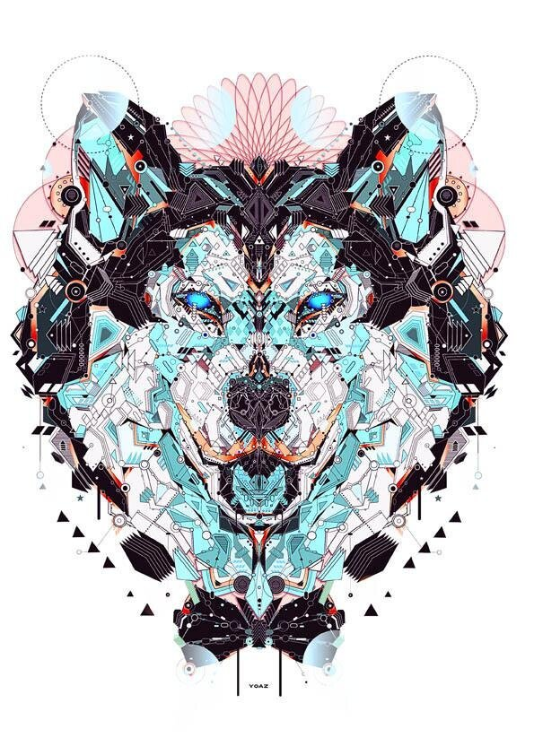 Electro Animals, Beautiful Illustrations by Yo Az