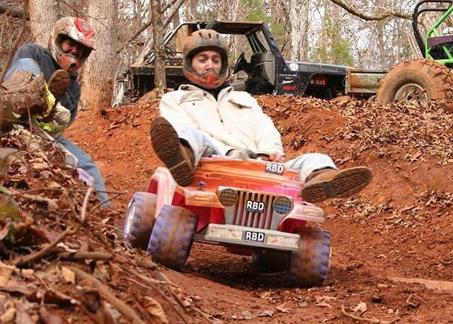 Dangerous Downhill Extreme Barbie Jeep Racing