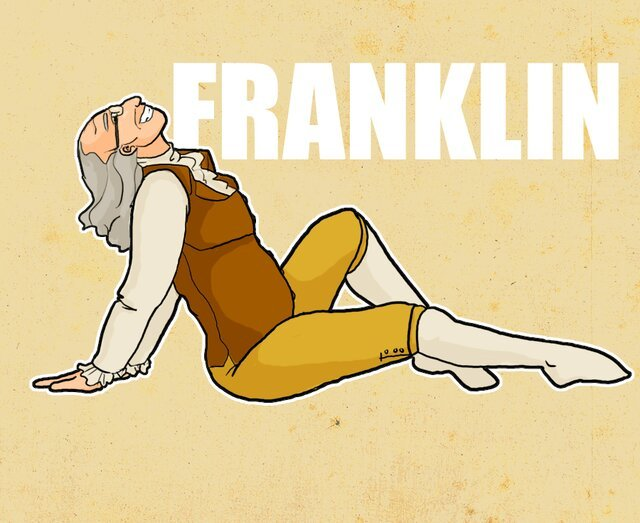 Funny Illustrations of America's Founding Fathers in Various Sexy Poses