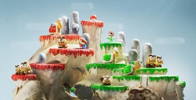 Super Mario Bros. Game Sculptures Made Atop Animal Skulls