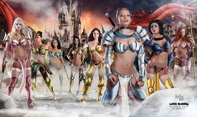 If Disney Princesses Were Sexy and Dangerous Warriors