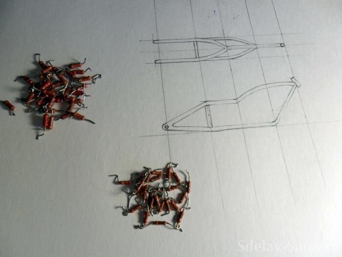 Модель мотоцикла из подручных материалов (17 фото)