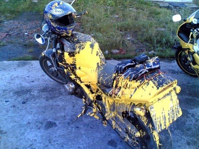 Как правильно красить мотоциклы (10 фото)