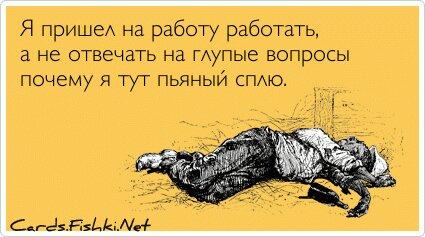 Я пришел на работу работать, а не отвечать на глупые... от unknown_user за 03 декабря 2012