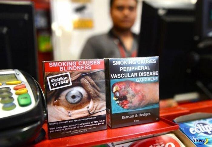 Новые упаковки сигарет в Австралии (2 фото)