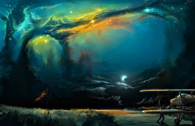 Alex Rommel's Surreal Digital Paintings of Skies